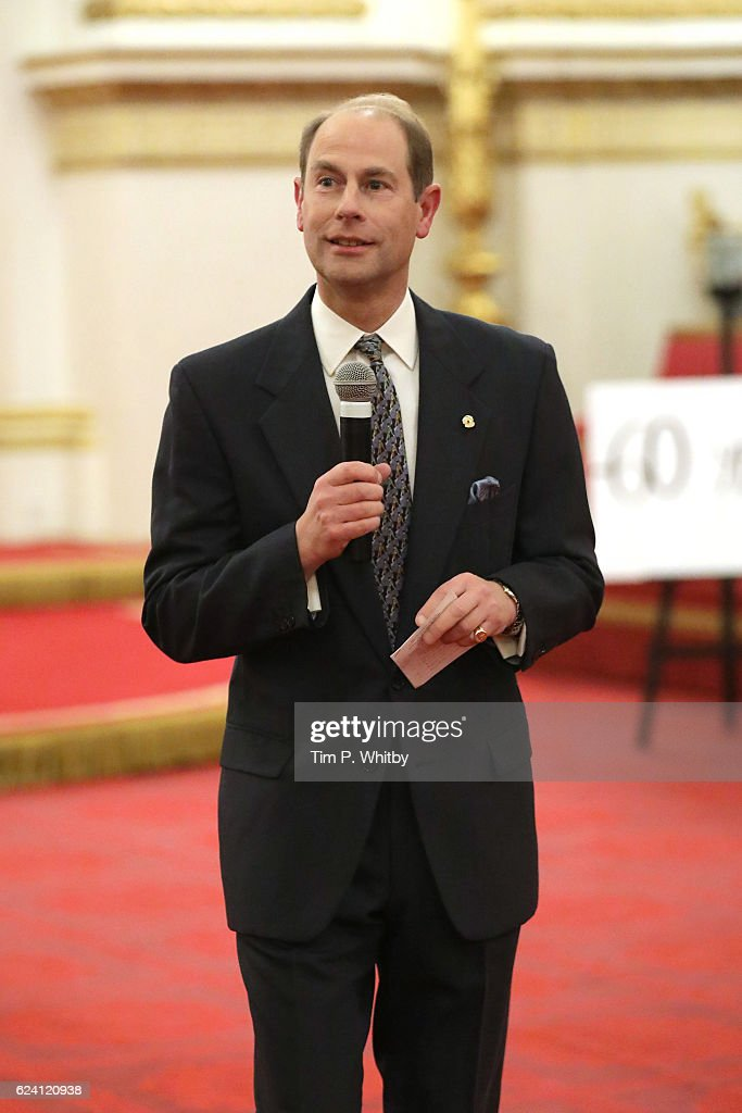 Prince Edward, Earl of Wessex attends as the National Youth Theatre celebrates its Diamond Anniversary hosted by HRH The Earl of Wessex at Buckingham Palace on November 17, 2016 in London, England.
