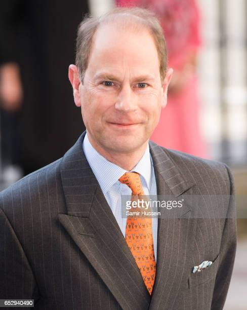 Prince Edward Earl of Wessex attends Commonwealth day celebrations service and reception at Westminster Abbey on March 13 2017 in London England