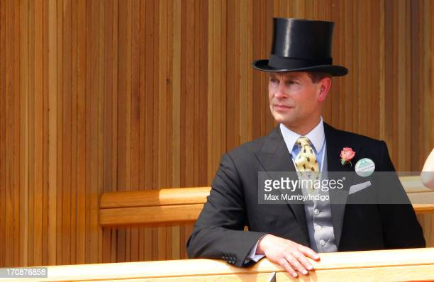 Prince Edward Earl of Wessex attends Day 2 of Royal Ascot at Ascot Racecourse on June 19 2013 in Ascot England