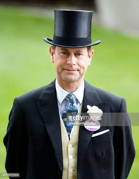 Prince Edward Earl of Wessex attends day 2 of Royal Ascot at Ascot Racecourse on June 17 2015 in Ascot England