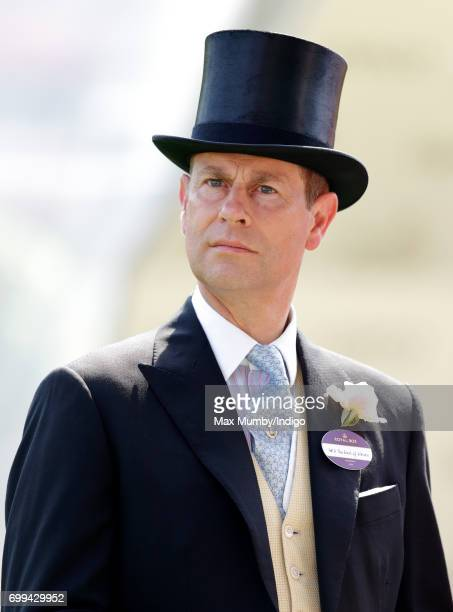 Prince Edward Earl of Wessex attends day 2 of Royal Ascot at Ascot Racecourse on June 21 2017 in Ascot England