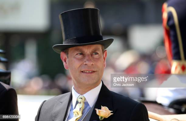 Prince Edward Earl of Wessex attends Royal Ascot 2017 at Ascot Racecourse on June 20 2017 in Ascot England