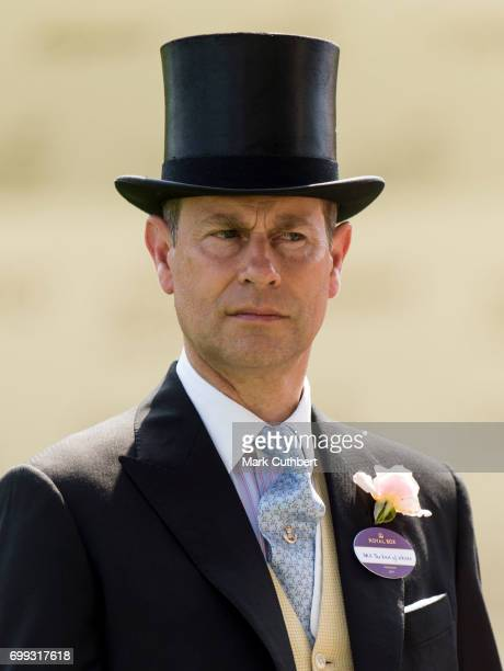 Prince Edward Earl of Wessex attends Royal Ascot 2017 at Ascot Racecourse on June 21 2017 in Ascot England