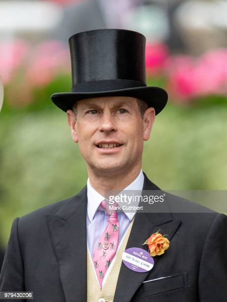 Prince Edward Earl of Wessex attends Royal Ascot Day 2 at Ascot Racecourse on June 20 2018 in Ascot United Kingdom