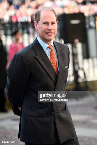 Prince Edward, Earl of Wessex attends the annual Commonwealth Day service and reception during Commonwealth Day celebrations on March 13, 2017 in...