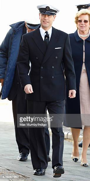 Prince Edward Earl of Wessex attends the Bicentenary Celebrations of The Royal Yacht Squadron on June 5 2015 in Cowes England