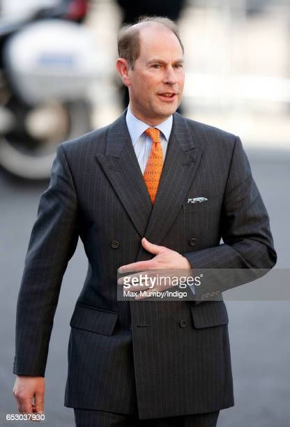 Prince Edward Earl of Wessex attends the Commonwealth Day Service at Westminster Abbey on March 13 2017 in London England