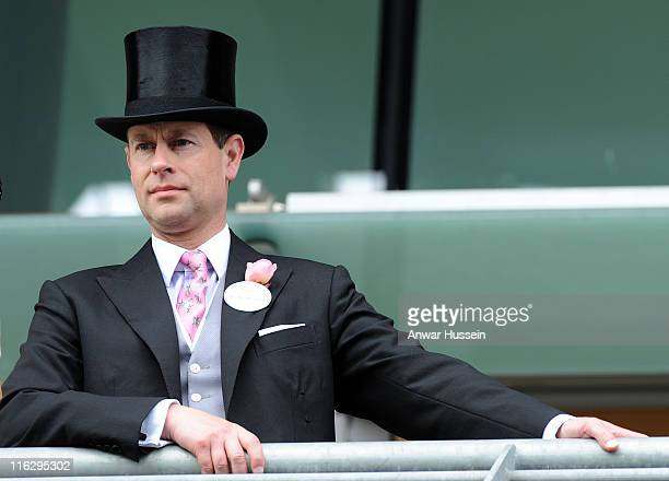 Prince Edward, Earl of Wessex attends the second day of Royal Ascot at Ascot racecourse on June 15, 2011 in Ascot, England.
