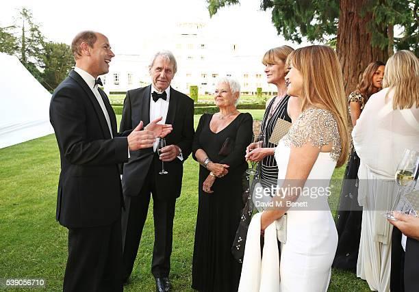 Prince Edward Earl of Wessex David Mills Dame Judi Dench Samantha Bond and Jane Seymour attend the Duke of Edinburgh Award 60th Anniversary Diamonds...