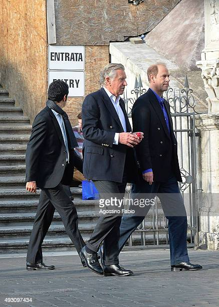 Prince Edward Earl of Wessex is seen at lunch on October 17 2015 in Rome Italy