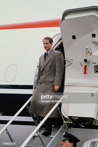 Prince Edward Earl of Wessex lands in Moscow for a visit on April 16 1989 in Moscow Russia