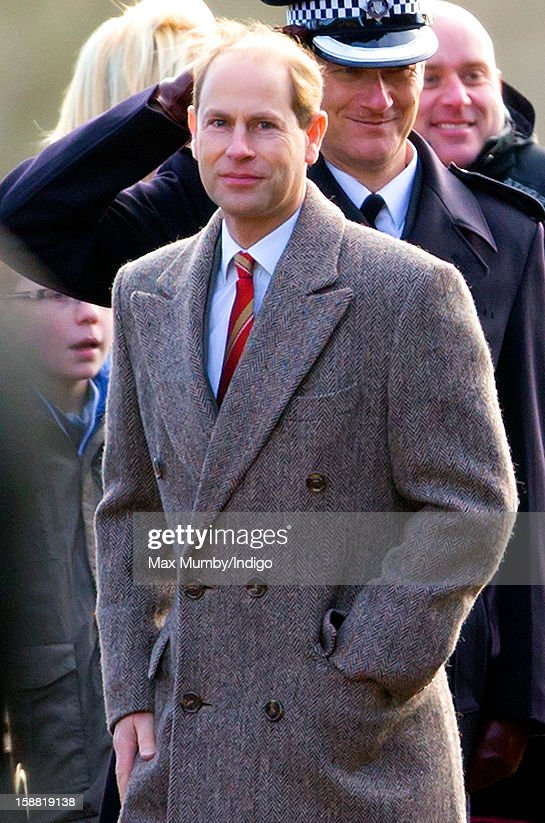Prince Edward, Earl of Wessex leaves St. Mary Magdalene Church, Sandringham after attending Sunday service on December 30, 2012 near King's Lynn, England.