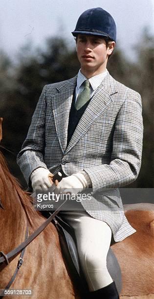 Prince Edward Earl of Wessex on horseback circa 1993
