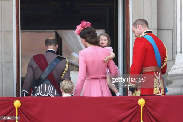 Prince Edward Earl of Wessex Prince George of Cambridge Catherine Duchess of Cambridge Princess Charlotte of Cambridge and Prince William Duke of...