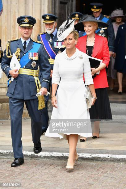 Prince Edward Earl of Wessex Prince Michael of Kent Sophie Countess of Wessex and Princess Michael of Kent attend as members of the Royal Family...