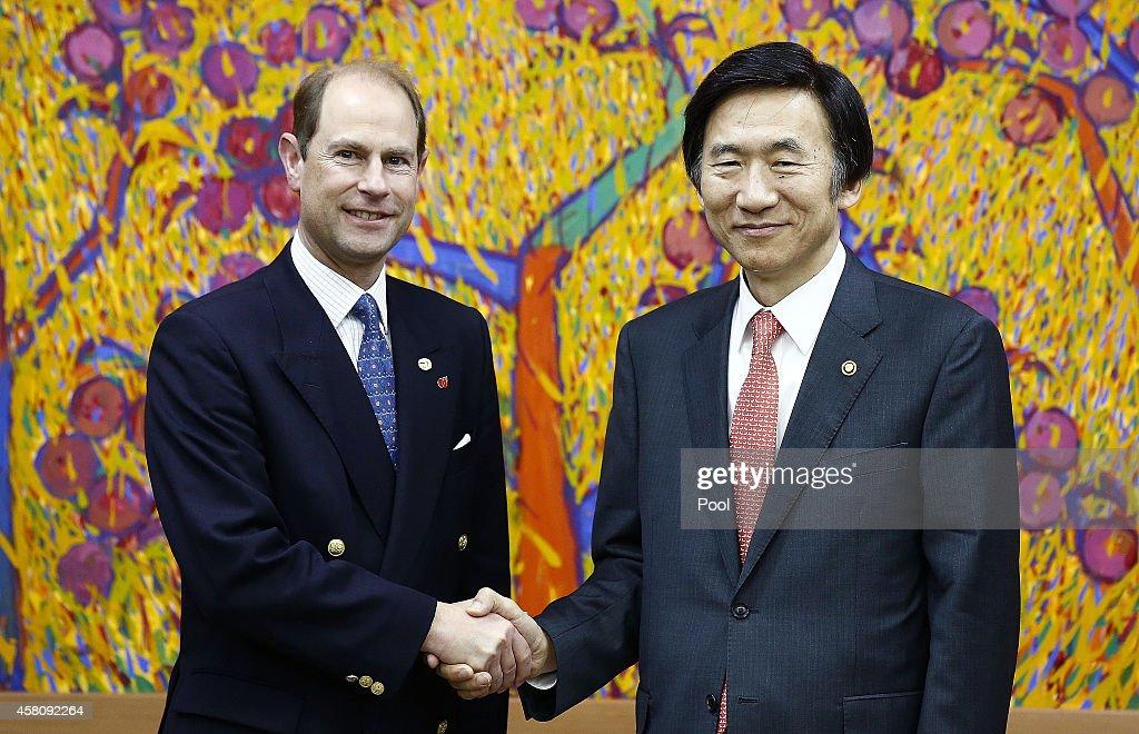 Prince Edward The Earl of Wessex Visits South Korea : News Photo