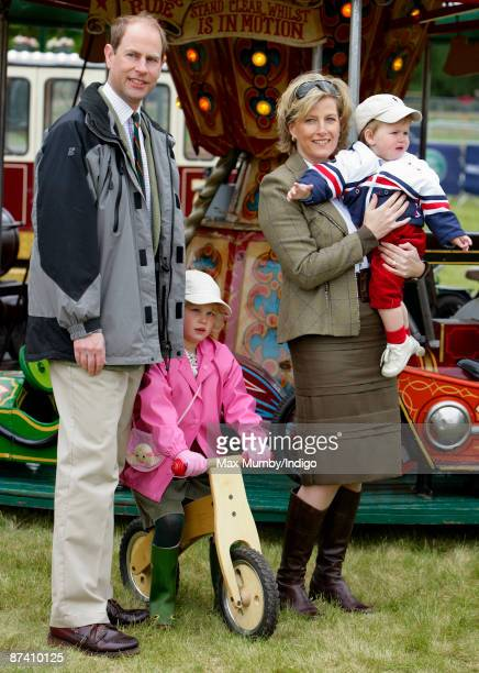 Prince Edward Earl of Wessex Sophie Countess of Wessex and their children Lady Louise Windsor and James Viscount Severn attend day 5 of the Royal...