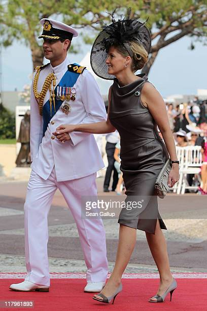 Prince Edward Earl of Wessex Sophie Countess of Wessex attend the religious ceremony of the Royal Wedding of Prince Albert II of Monaco to Princess...