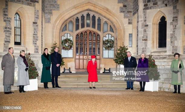 Prince Edward, Earl of Wessex, Sophie, Countess of Wessex, Catherine, Duchess of Cambridge, Prince William, Duke of Cambridge, Queen Elizabeth II,...