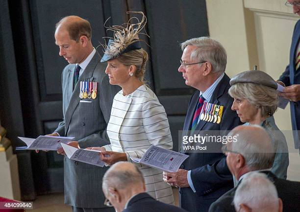 Prince Edward Earl of Wessex Sophie Countess of Wessex Prince Richard Duke of Gloucester and Princess Alice Duchess of Gloucester attend the 70th...