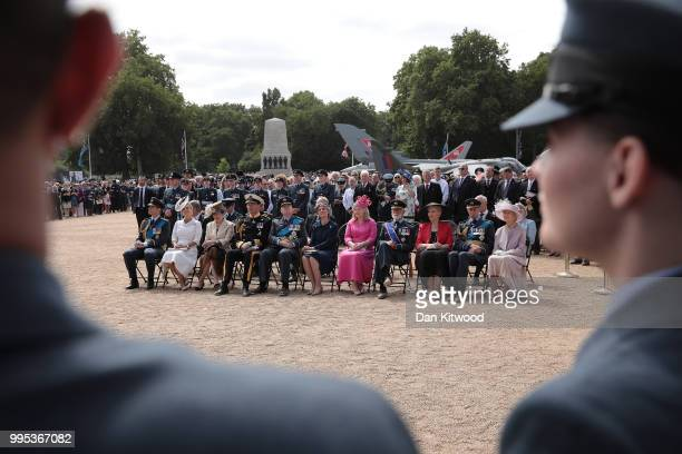 Prince Edward Earl of Wessex Sophie Countess of Wessex Princess Anne Princess Royal Timothy Laurence Prince Richard Duke of Gloucester and Birgitte...