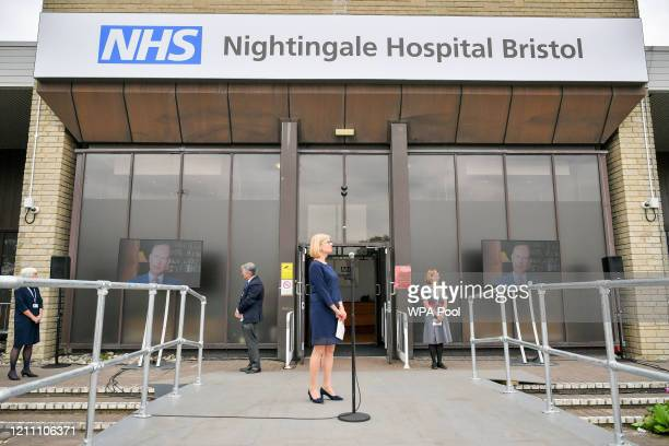 Prince Edward Earl of Wessex speaks via video link during the formal opening of the Bristol Nightingale Hospital on April 27 2020 in Bristol England...