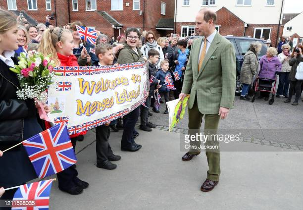 Prince Edward Earl of Wessex visits a local community centre on March 10 2020 in Mersea Island United Kingdom The Earl of Wessex celebrates his 56th...