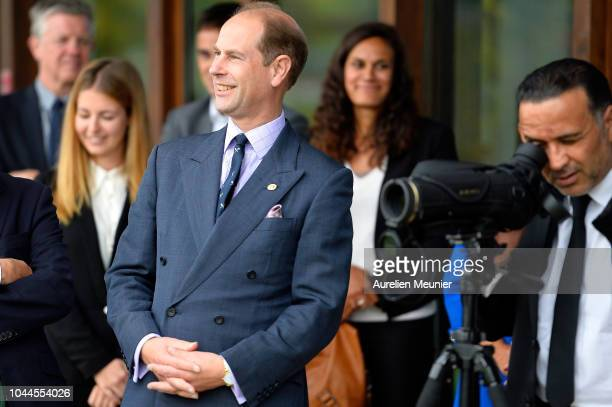Prince Edward Earl Of Wessex visits INSEP on October 2 2018 in Paris France Prince Edward Earl Of Wessex And Sophie Countess Of Wessex are on a three...