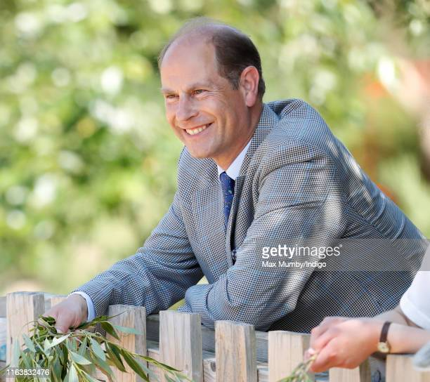 Prince Edward Earl of Wessex visits The Wild Place Project at Bristol Zoo on July 23 2019 in Bristol England