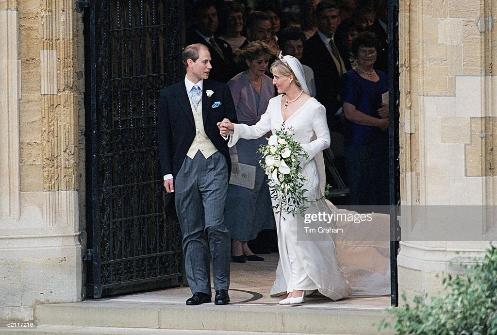 Prince Edward Gazing At His Bride, Sophie Rhys-jones, On Their Wedding Day At St George's Chapel, Windsor.