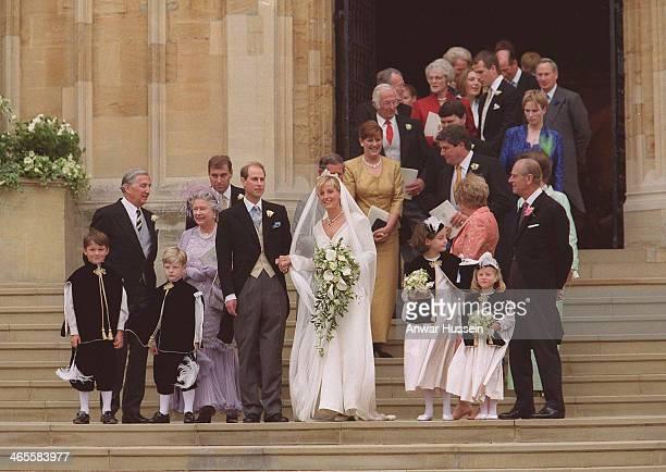 Prince Edward marries Sophie Rhys-Jones at St. George's Chapel on June 19, 1999 in Windsor, England.