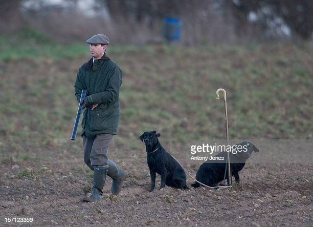 Prince Edward On A Royal Shoot At Sandringham In Norfolk