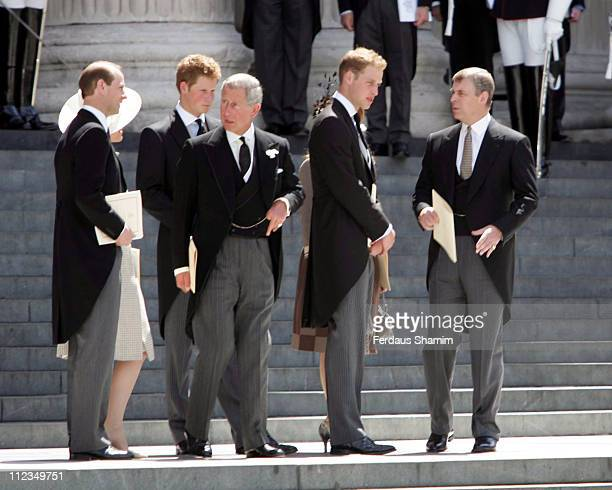 Prince Edward Prince Harry Prince Charles Prince William and Prince Andrew