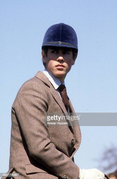 Prince Edward rides his horse during Badminton Horse Trials on April 1 1980 in Badminton England