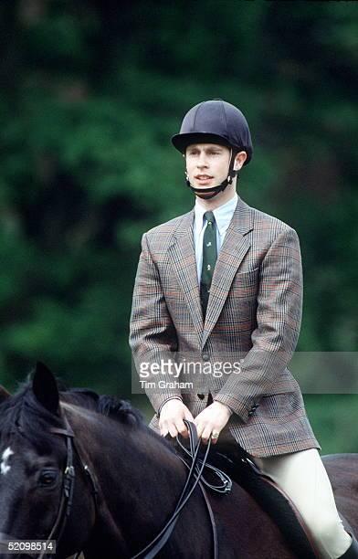 Prince Edward Riding At Windsor Horse Show