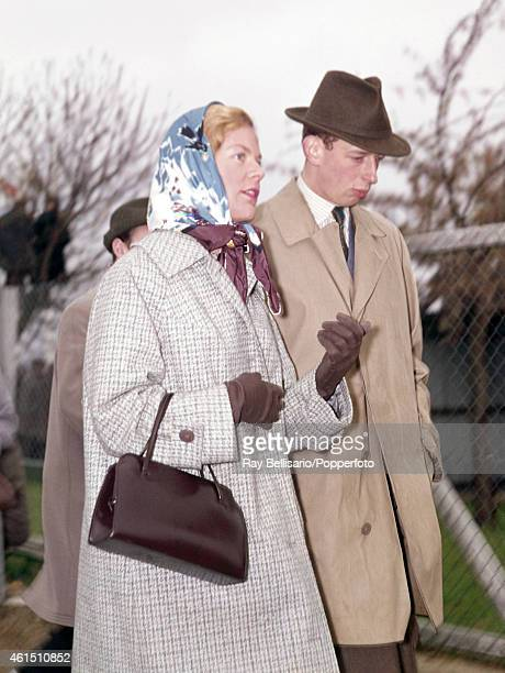 Prince Edward the Duke of Kent and his fiance Katharine Worsley at Goodwood Motor Races on 3rd April 1961 They were married in two months' time This...
