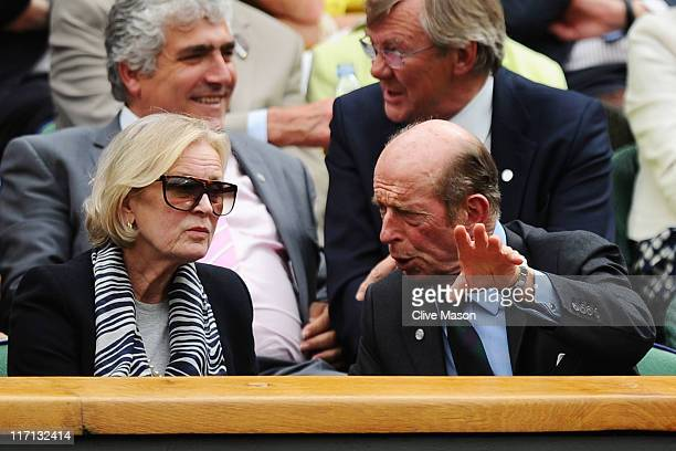 Prince Edward The Duke of Kent and Katharine Duchess of Kent attend the second round match between Lleyton Hewitt of Australia and Robin Soderling of...
