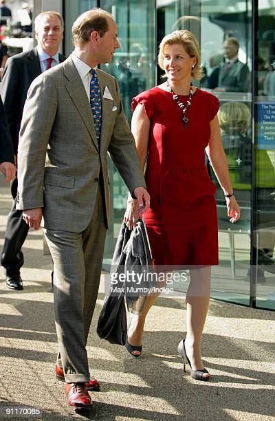 HRH Prince Edward The Earl of Wessex and HRH Sophie Countess of Wessex attend the Ascot Festival horse racing meet at Ascot Racecourse on September...