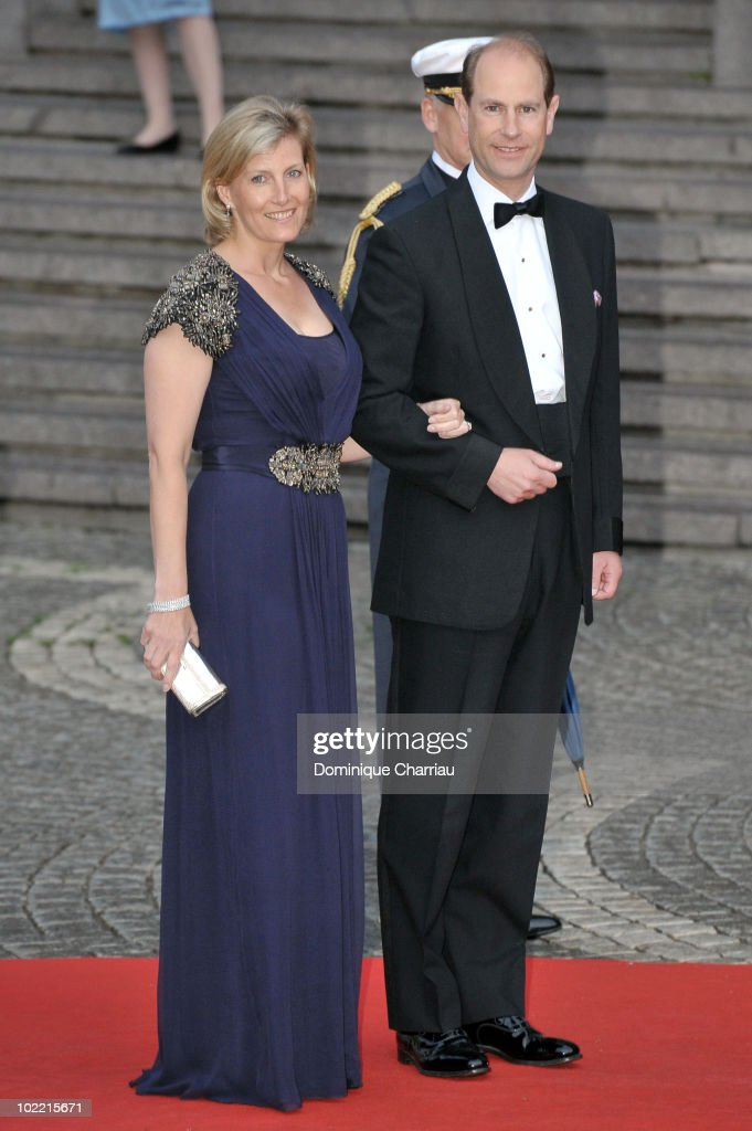 Prince Edward, the Earl of Wessex and Princess Sophie, the Countess of Wessex attend the Government Gala Performance for the Wedding of Crown Princess Victoria of Sweden and Daniel Westling at Stockholm Concert Hall on June 18, 2010 in Stockholm, Sweden.