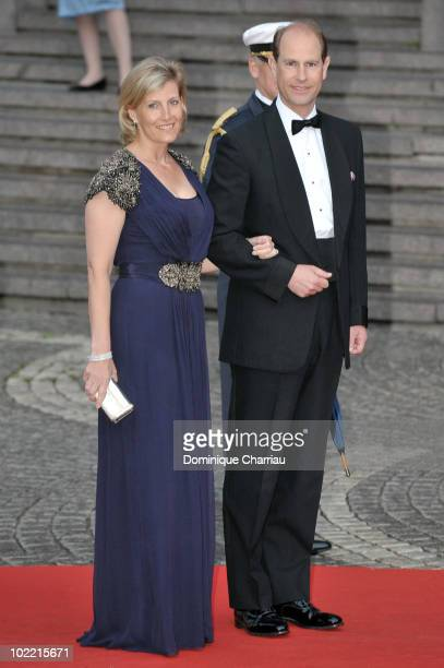 Prince Edward the Earl of Wessex and Princess Sophie the Countess of Wessex attend the Government Gala Performance for the Wedding of Crown Princess...