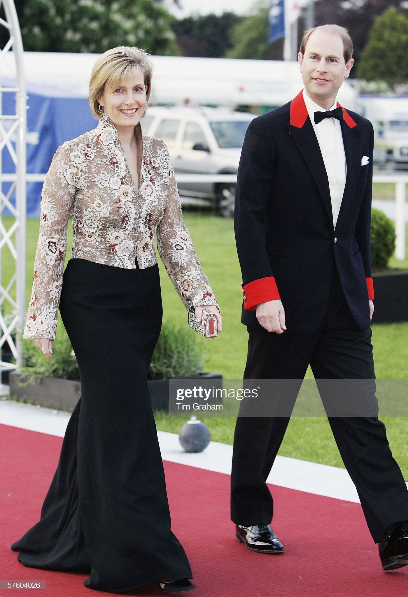 Prince Edward & Sophie at Horse Show Dinner : News Photo