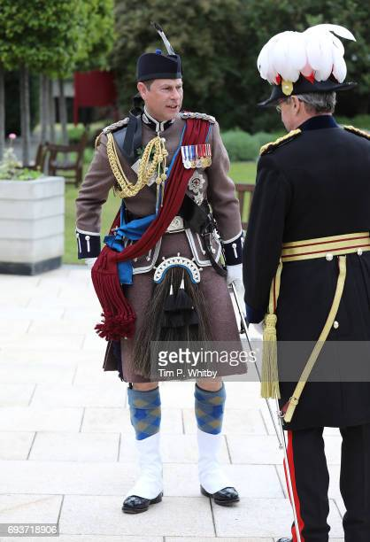 Prince Edward The Earl of Wessex arrives to review the Chelsea pensioners at the annual Founder's Day Parade at Royal Hospital Chelsea on June 8 2017...