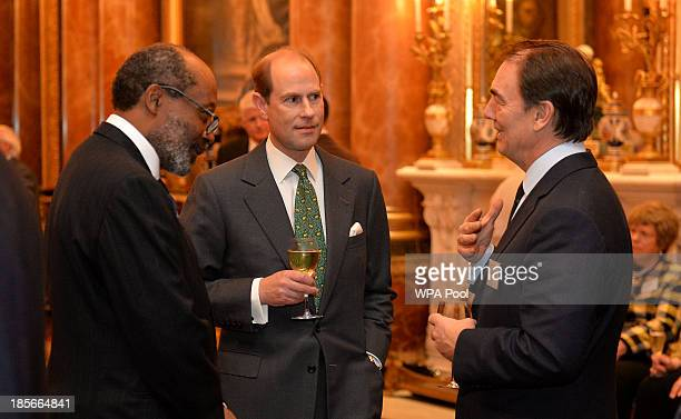 Prince Edward The Earl of Wessex attends a reception for The Queen Elizabeth Diamond Jubilee Trust at Buckingham Palace on October 23 2013 in London...