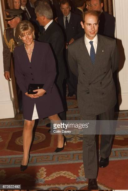 Prince Edward the Earl of Wessex with his wife Sophie Countess of Wessex during their visit to Dublin 27th August 1999