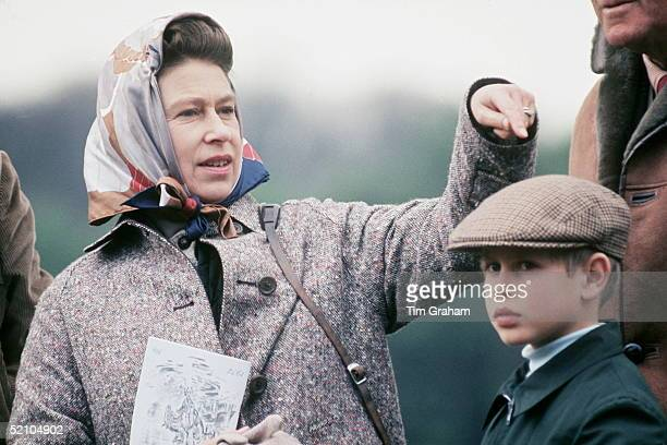 Prince Edward With His Mother The Queen At The Royal Windsor Horse Show