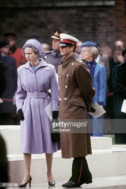 Prince Edward With His Sister Princess Anne At The Unveiling Of The Mountbatten Memorial Statue In London