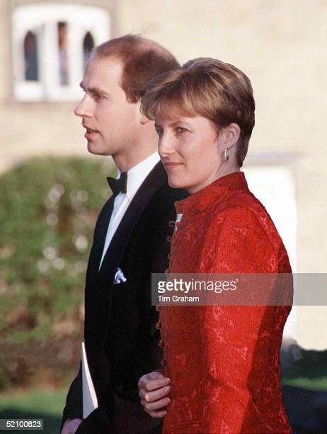 Prince Edward With Sophie Rhysjones At The Wedding Oftheir Friend Lord Ivar Mountbatten