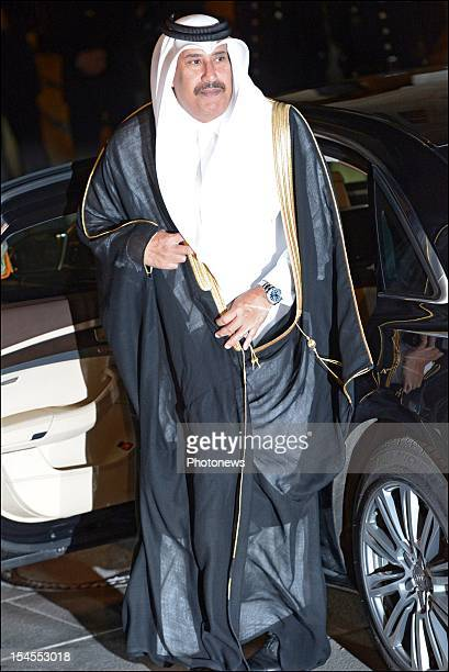 Prince el Hassan bin Talal of Jordan arrives at the Gala Dinner for the wedding of Prince Guillaume Of Luxembourg and Stephanie de Lannoy at the...