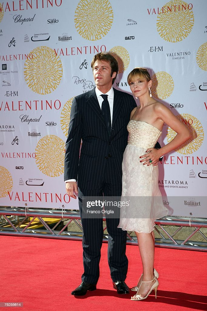 Prince Emanuele Filiberto and Princess Clotilde arrives at the Ara Pacis for Valentino's Exhibition opening on July 6, 2007 in Rome, Italy. Fashion icon Valentino decided to mark the celebration of the 45th anniversary of his luxury brand by breaking a 17 year tradition of unveiling his luxurious haute couture collections for women in Paris with a show in Rome.