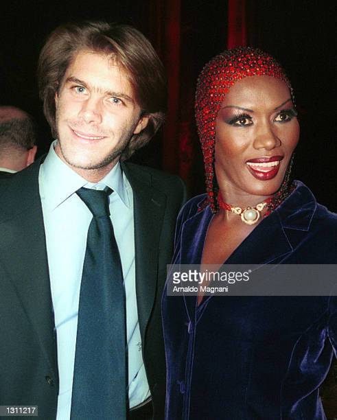Prince Emanuele Filiberto di Savoia and Grace Jones attend the 'Made in Italy Awards' December 9 2000 at Cipriani''s in New York City The event...
